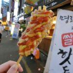 韓国釜山で話題のコグマタッカルビとハットグ(韓国式チーズホットドッグ)